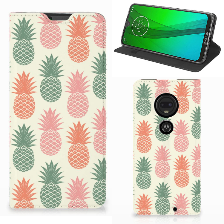 Motorola Moto G7 | G7 Plus Flip Style Cover Ananas