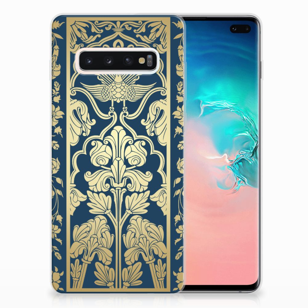 Samsung Galaxy S10 Plus TPU Case Golden Flowers