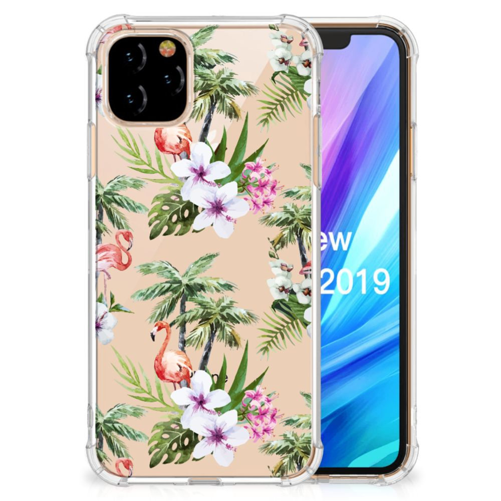 Apple iPhone 11 Pro Case Anti-shock Flamingo Palms