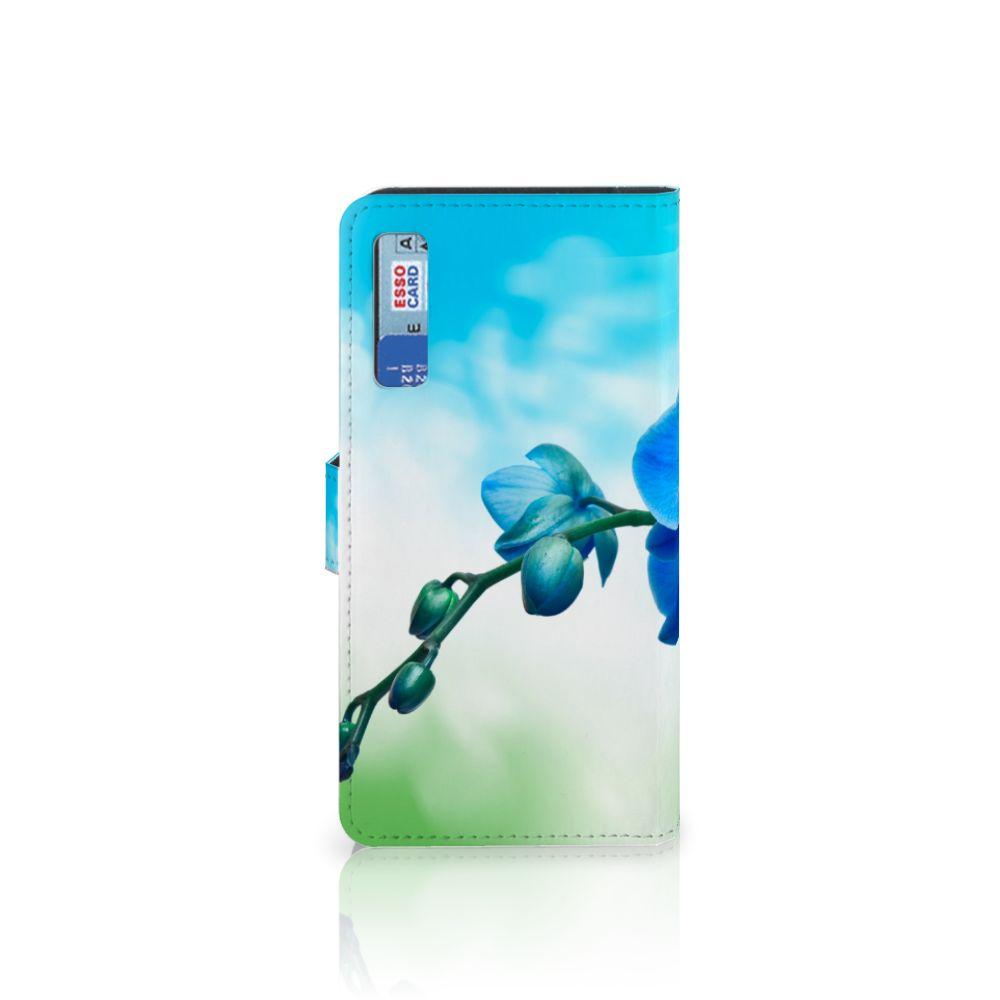 Samsung Galaxy A7 (2018) Hoesje Orchidee Blauw