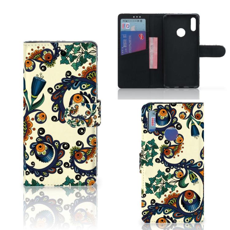 Wallet Case Huawei Y7 Pro | Y7 Prime (2019) Barok Flower