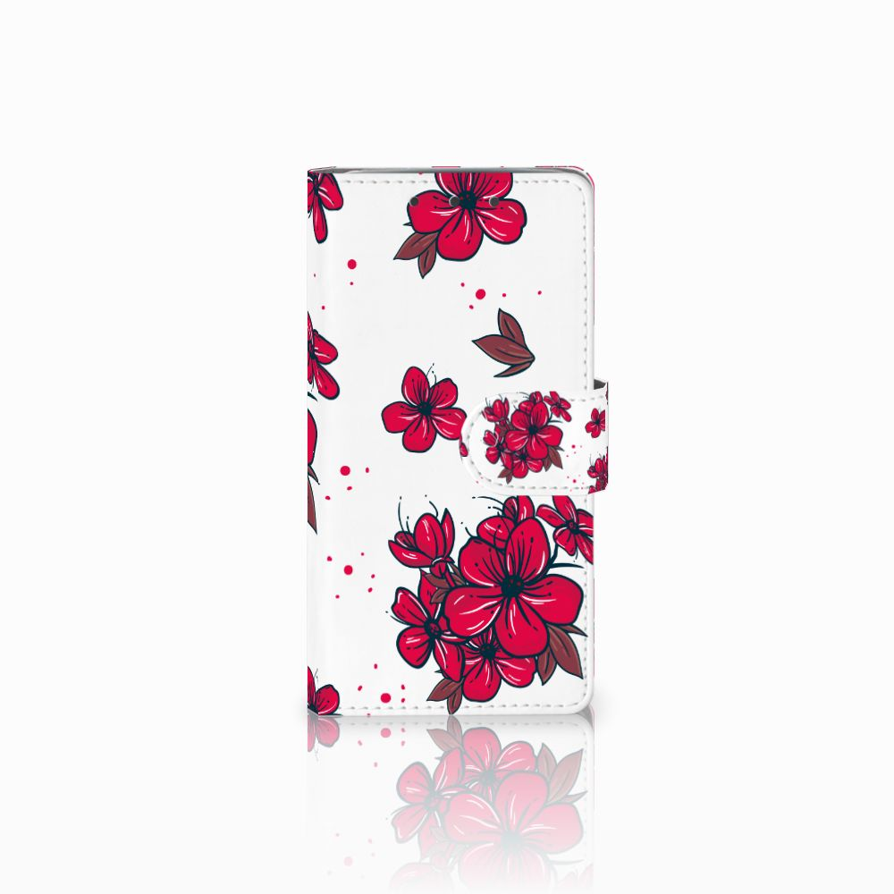 HTC One M7 Boekhoesje Design Blossom Red