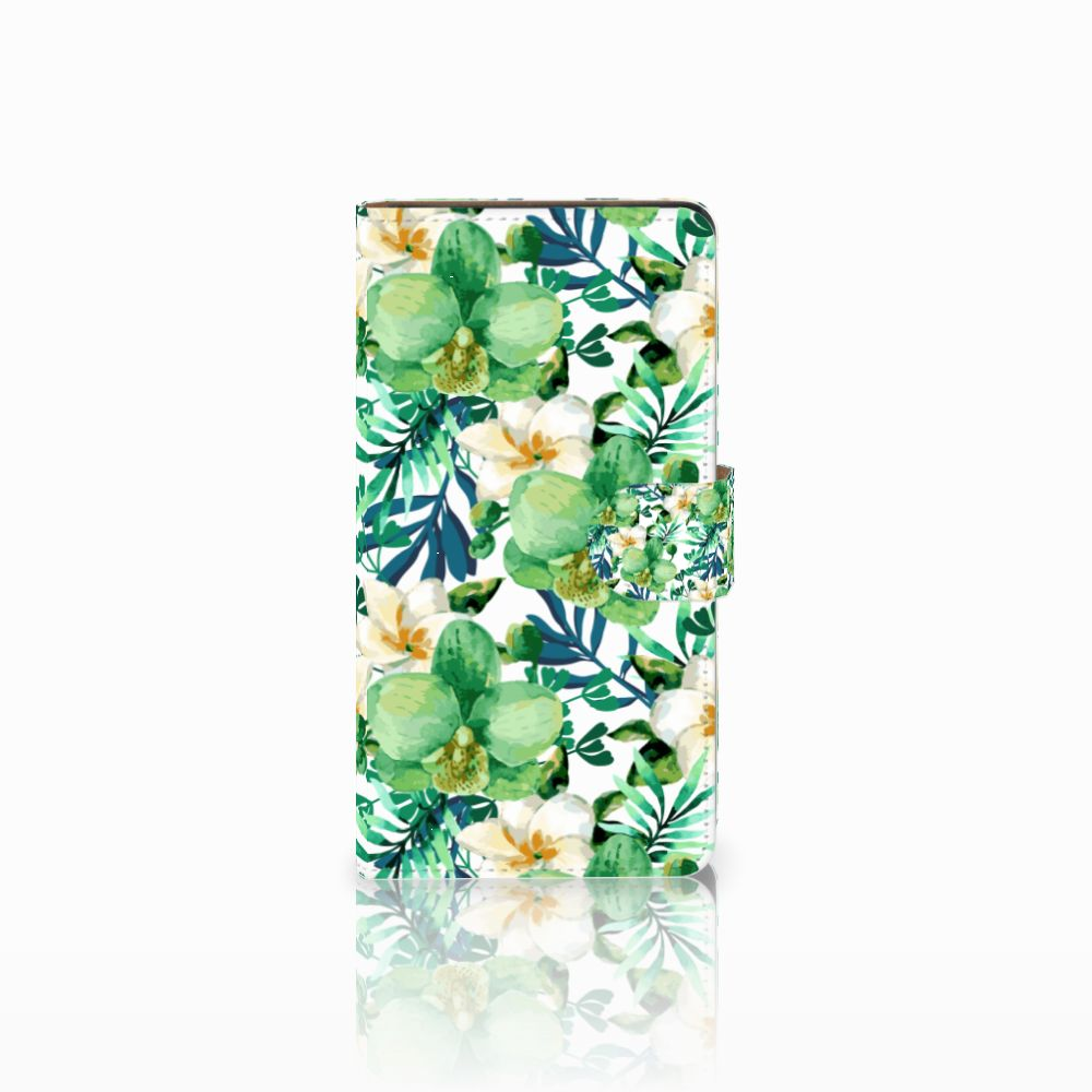 Huawei Ascend G700 Uniek Boekhoesje Orchidee Groen
