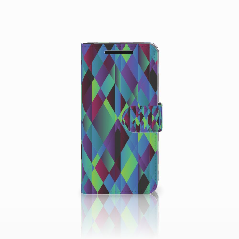 HTC One M9 Bookcase Abstract Green Blue
