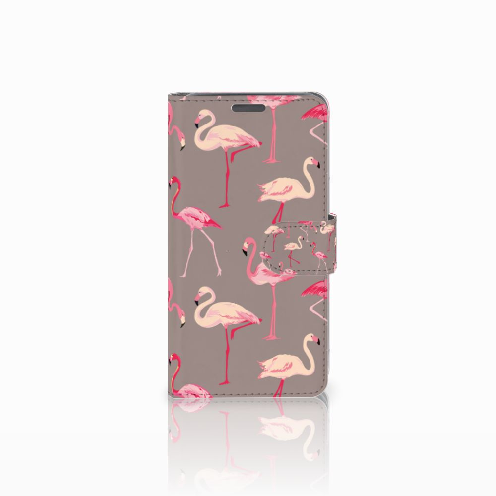 Wiko Lenny Uniek Boekhoesje Flamingo