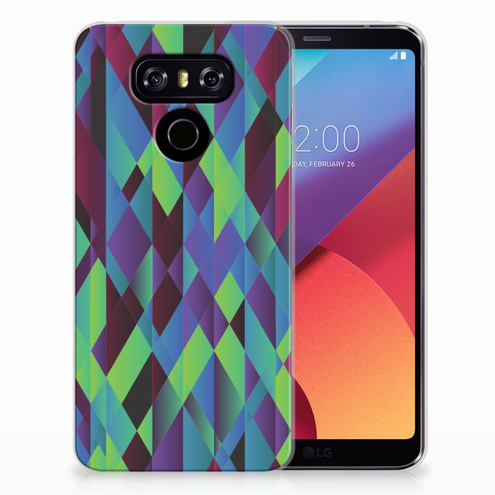 LG G6 TPU Hoesje Abstract Green Blue