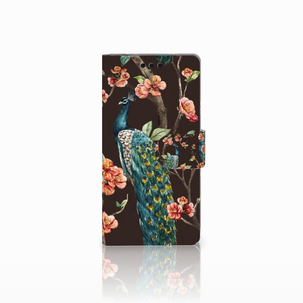 Sony Xperia M4 Aqua Boekhoesje Design Pauw met Bloemen
