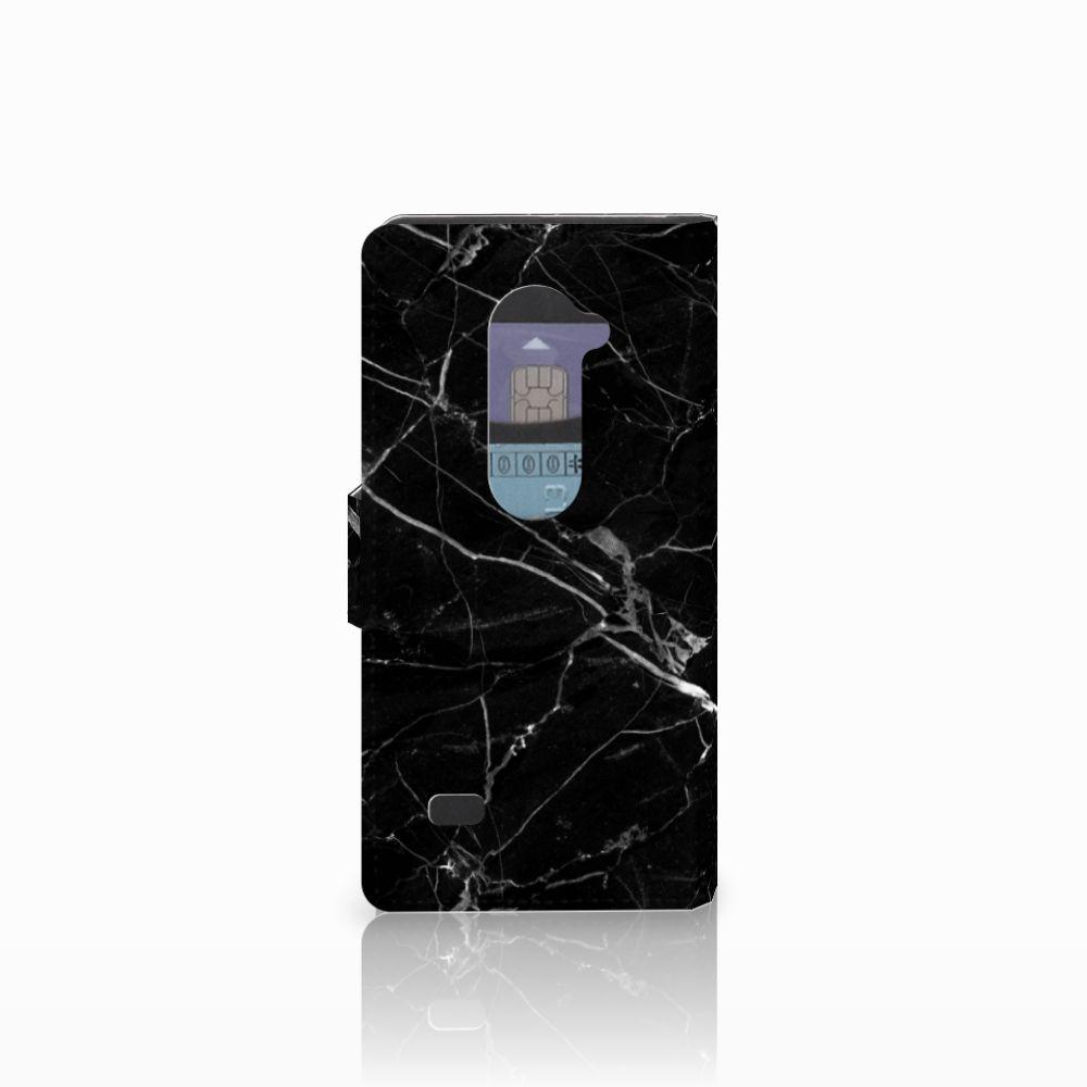 LG Leon 4G Bookcase Marmer Zwart