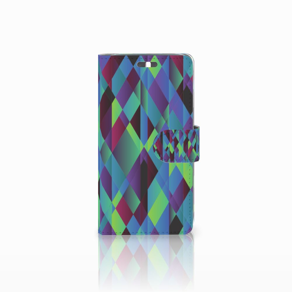 Huawei Y625 Bookcase Abstract Green Blue