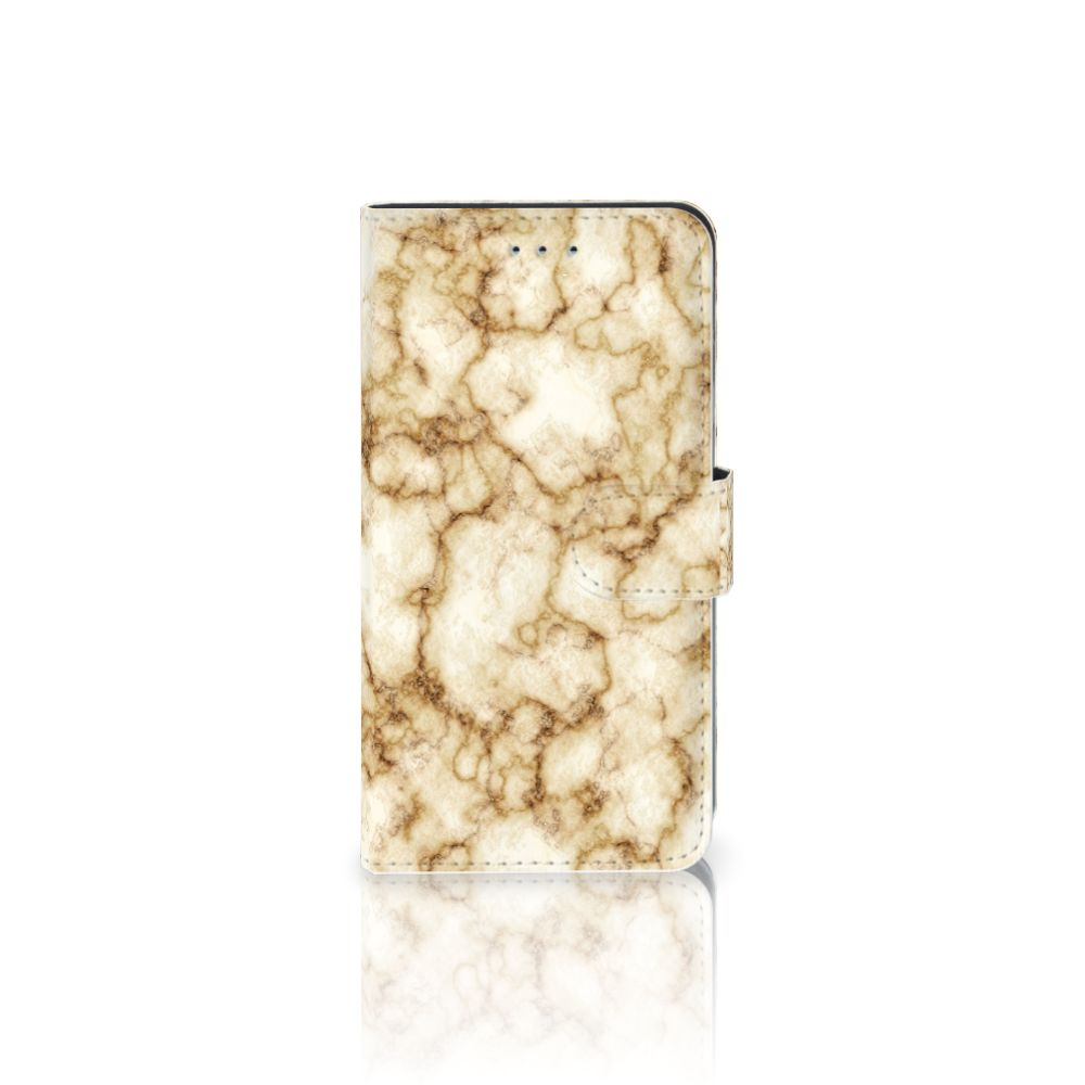 Samsung Galaxy J4 2018 Uniek Boekhoesje Marmer Goud