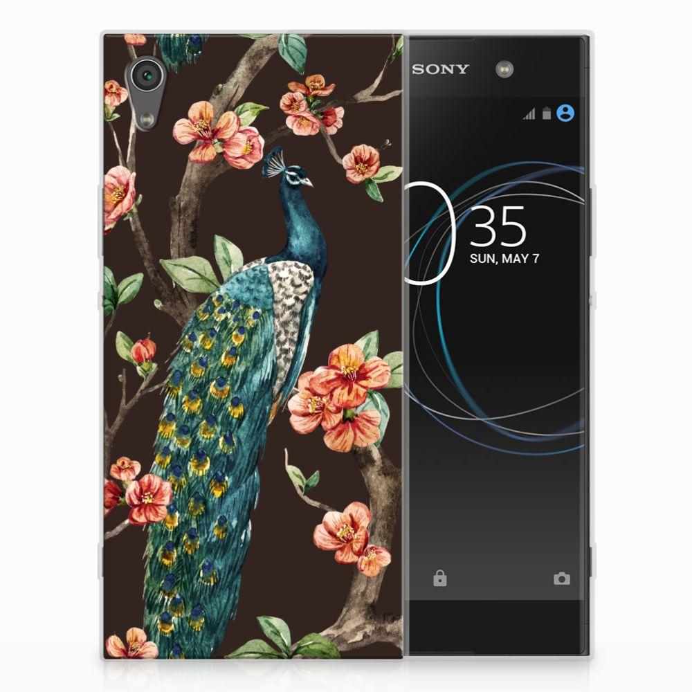 Sony Xperia XA1 Ultra TPU Hoesje Design Pauw met Bloemen
