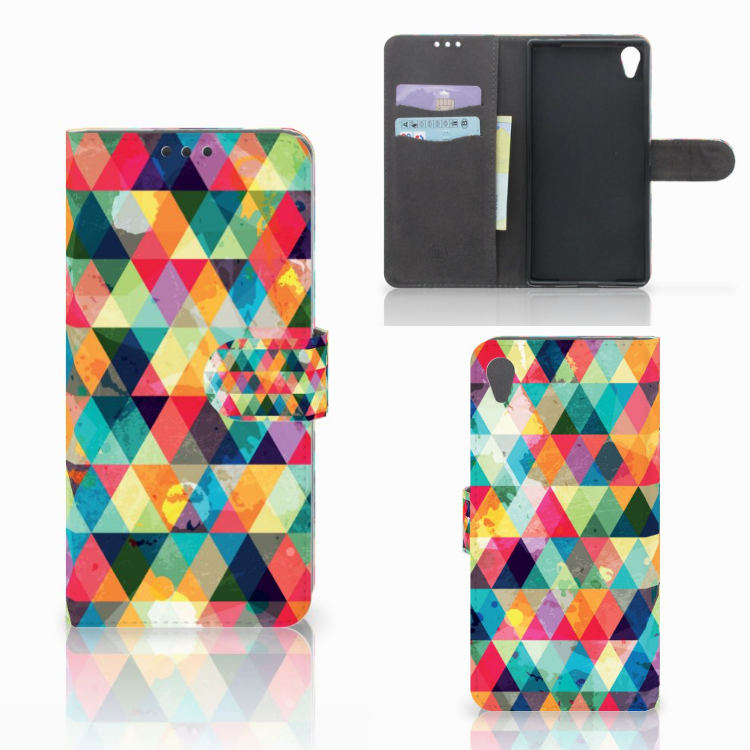 Sony Xperia Z5 Premium Telefoon Hoesje Geruit