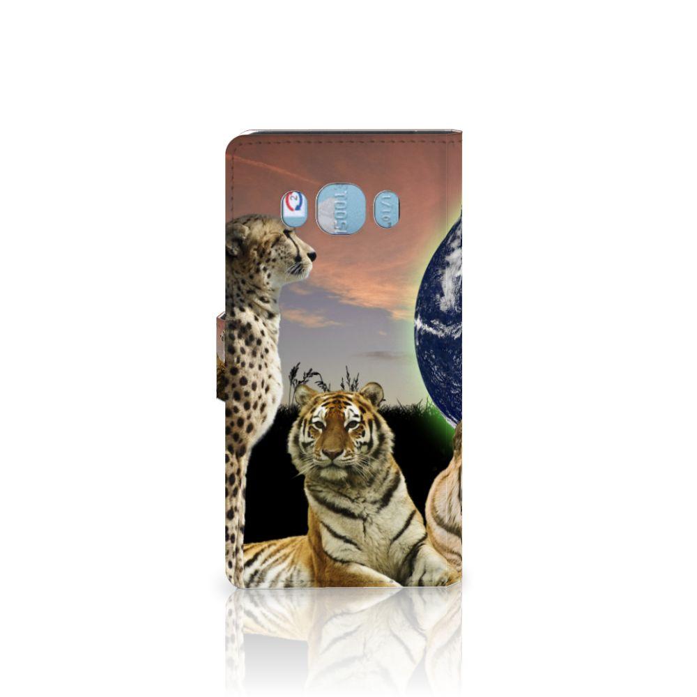 Samsung Galaxy J5 2016 Telefoonhoesje met Pasjes Roofdieren