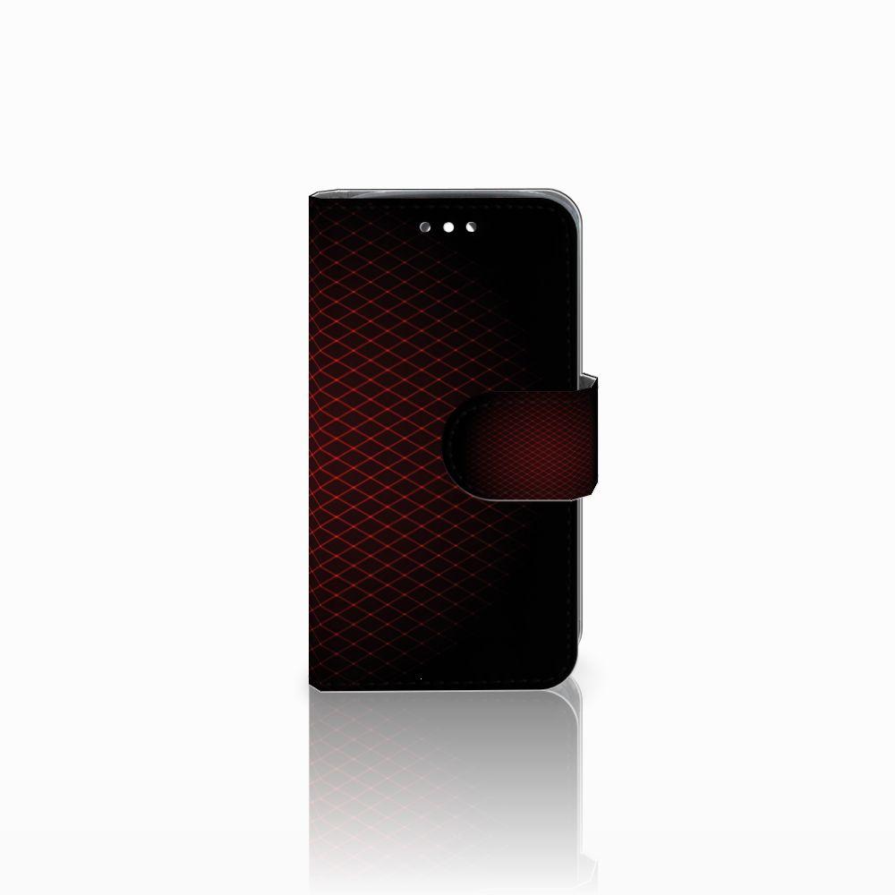 Huawei Y360 Uniek Boekhoesje Geruit Rood