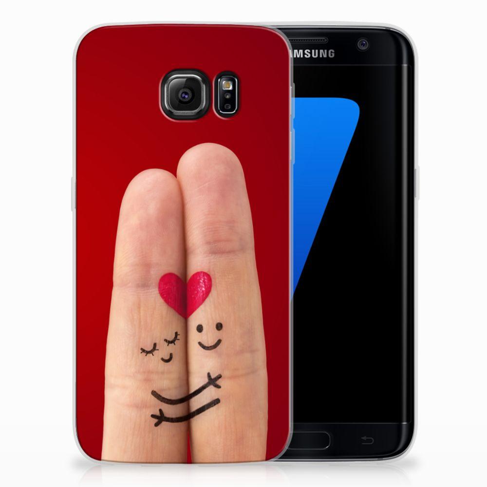 Samsung Galaxy S7 Edge Uniek TPU Hoesje Liefde