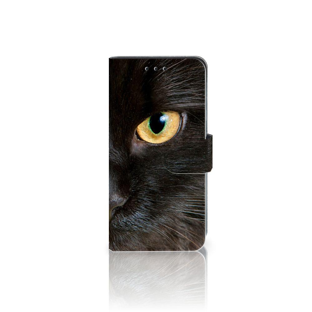 Samsung Galaxy J5 2016 Uniek Boekhoesje Zwarte Kat