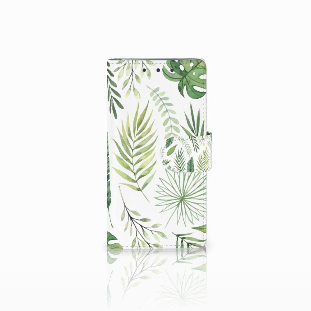 HTC One M7 Uniek Boekhoesje Leaves