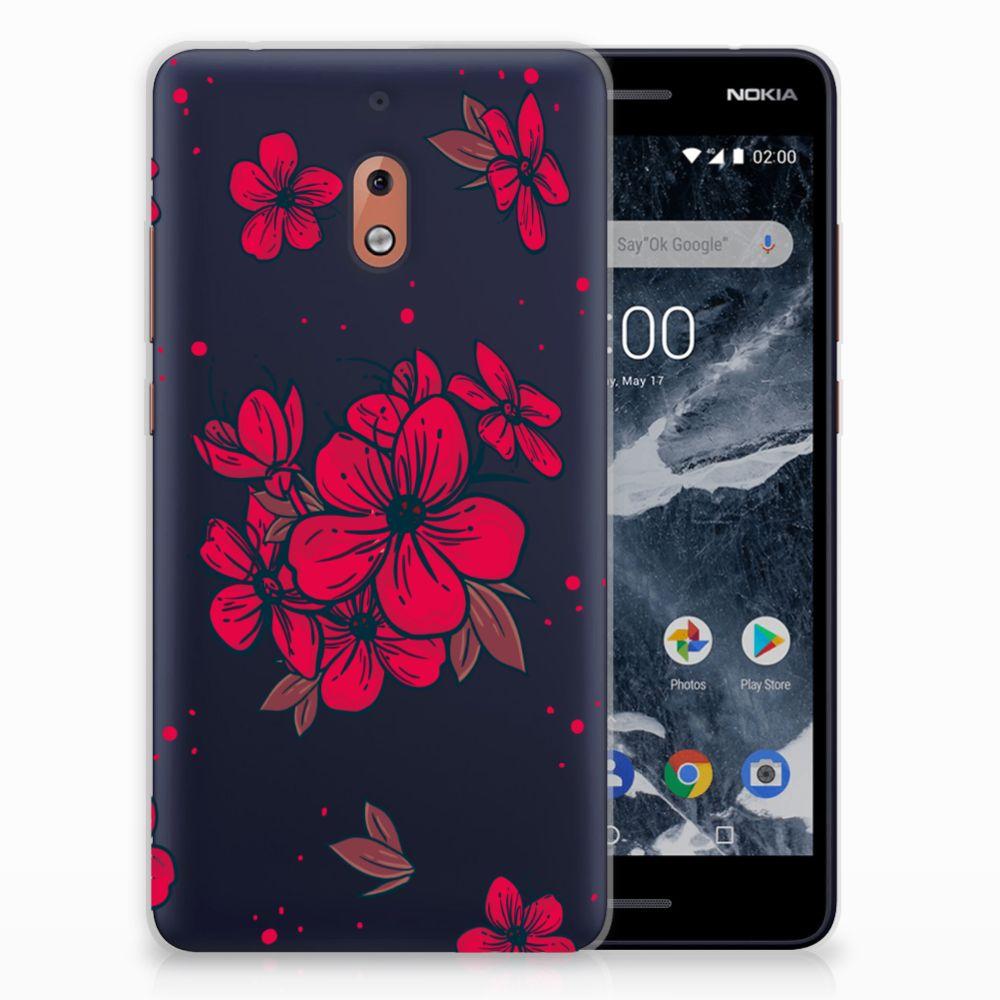 Nokia 2.1 (2018) TPU Hoesje Design Blossom Red