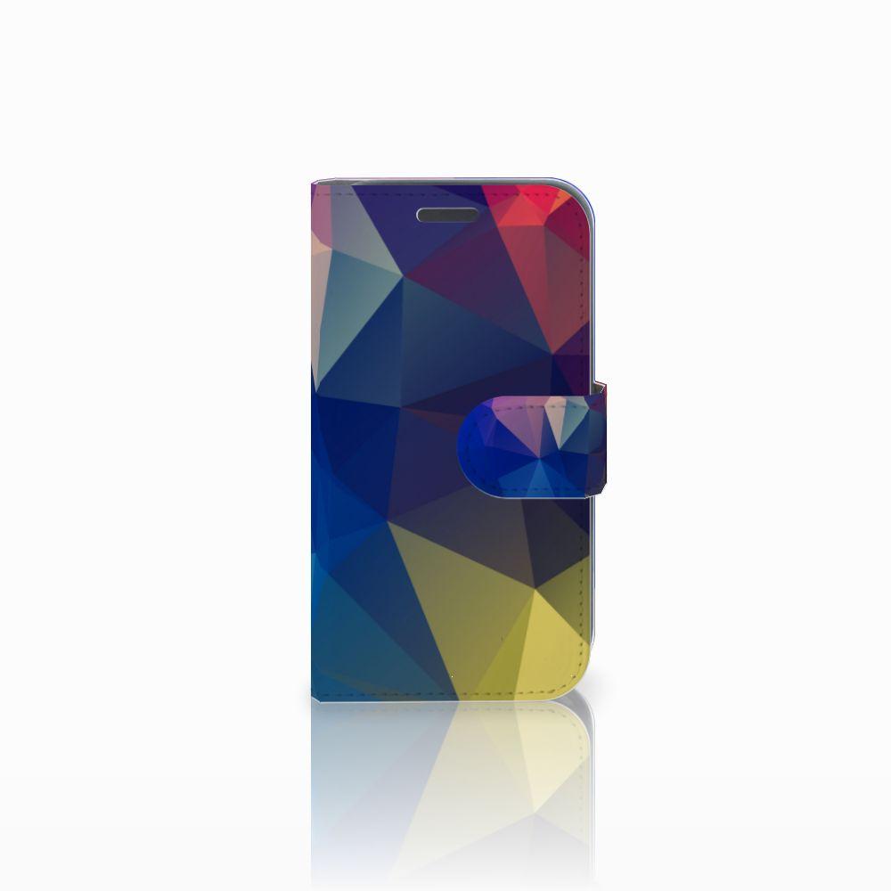 Samsung Galaxy J1 2016 Uniek Boekhoesje Polygon Dark