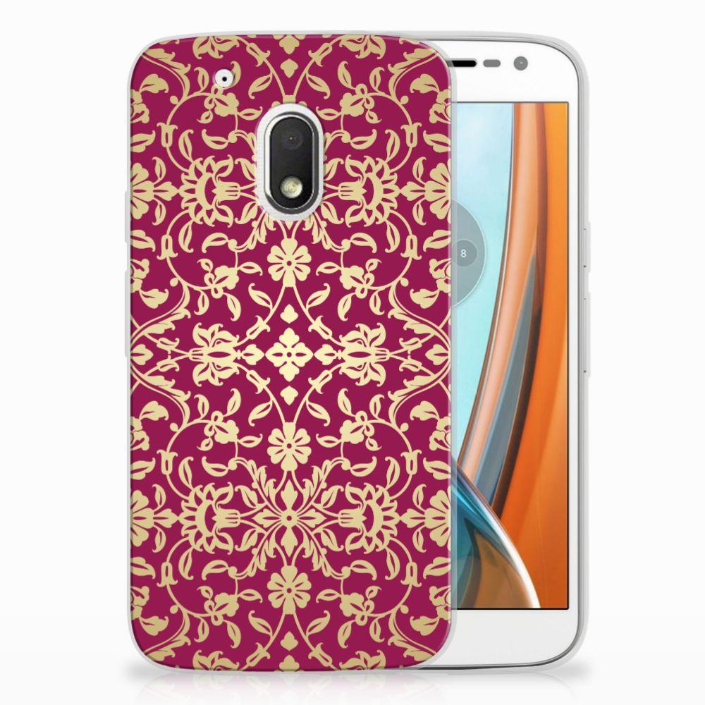 Motorola Moto G4 Play TPU Hoesje Design Barok Pink