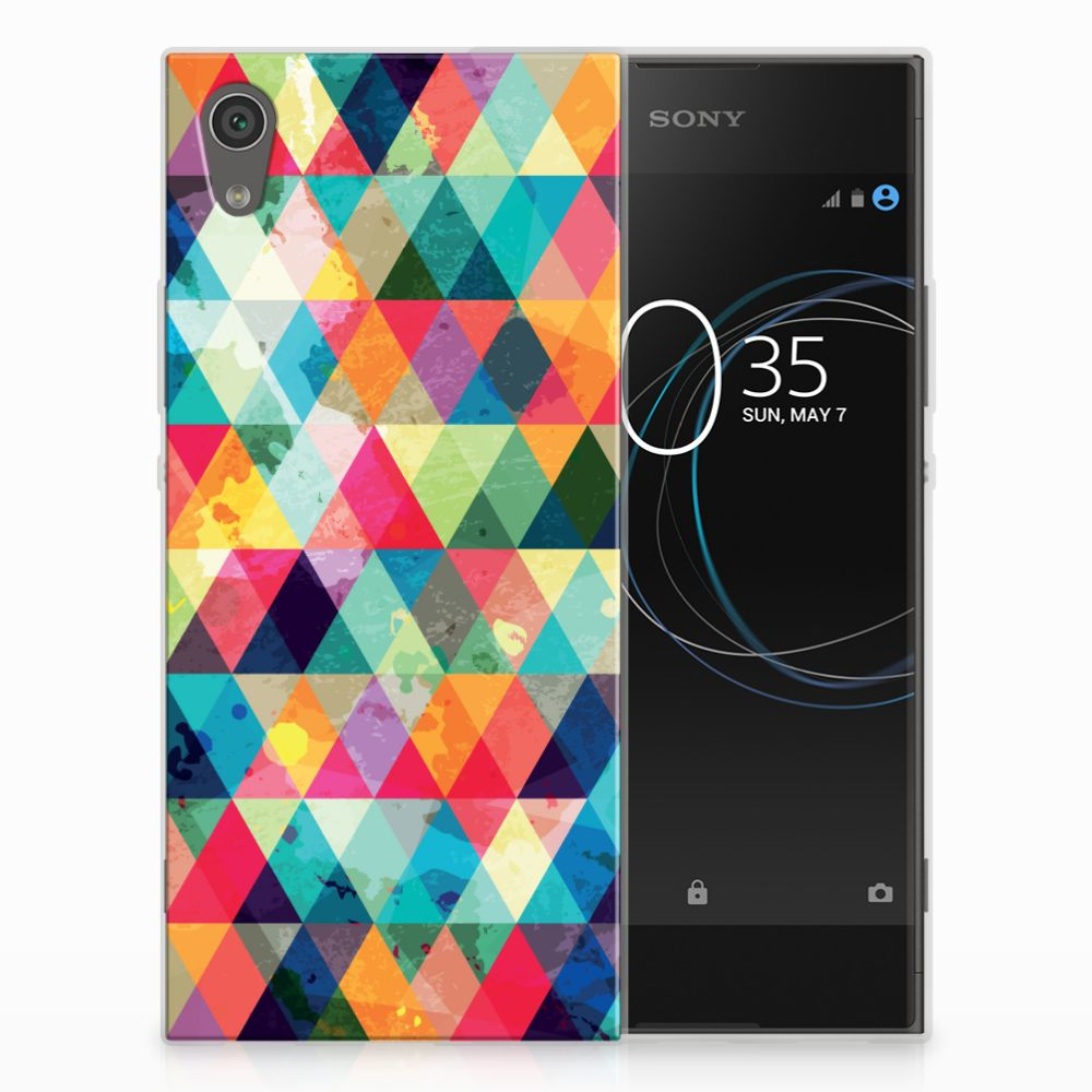 Sony Xperia XA1 Uniek TPU Hoesje Geruit