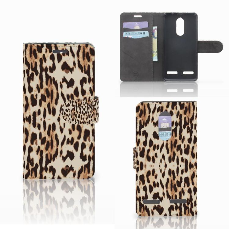 Lenovo K6 Telefoonhoesje met Pasjes Leopard