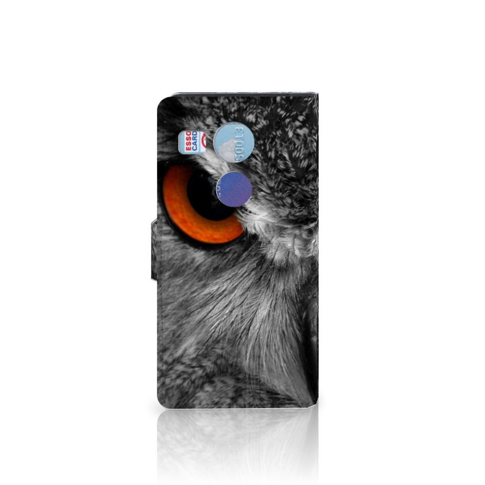 LG Nexus 5X Telefoonhoesje met Pasjes Uil
