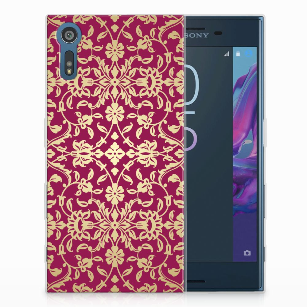 Sony Xperia XZs | XZ TPU Hoesje Design Barok Pink