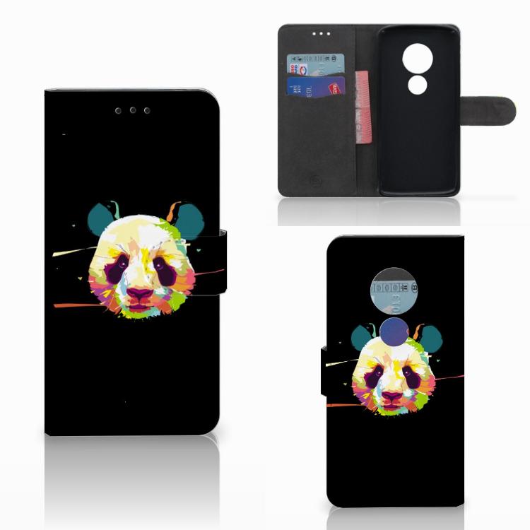 Motorola Moto E5 Leuk Hoesje Panda Color