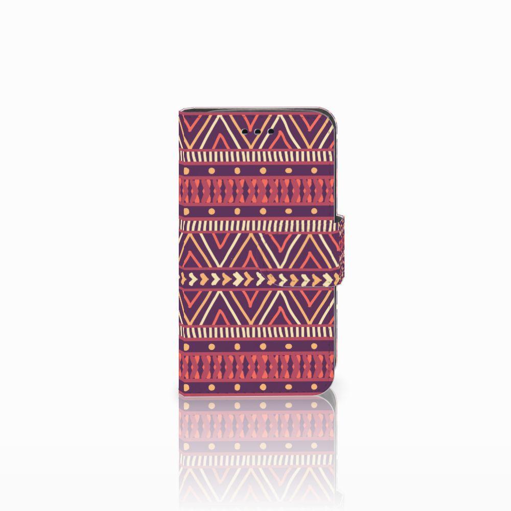 Samsung Galaxy Trend 2 Uniek Boekhoesje Aztec Purple