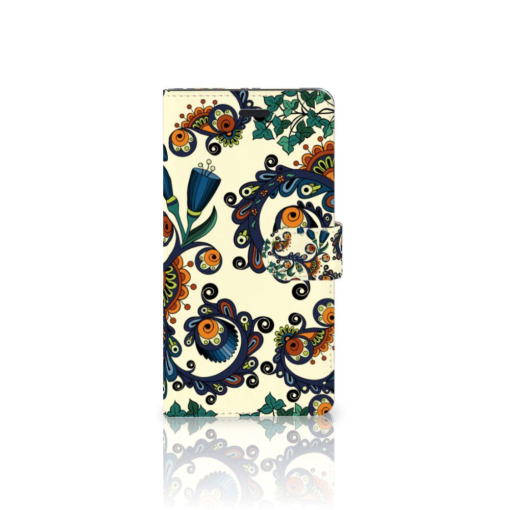 Samsung Galaxy A7 2017 Boekhoesje Design Barok Flower