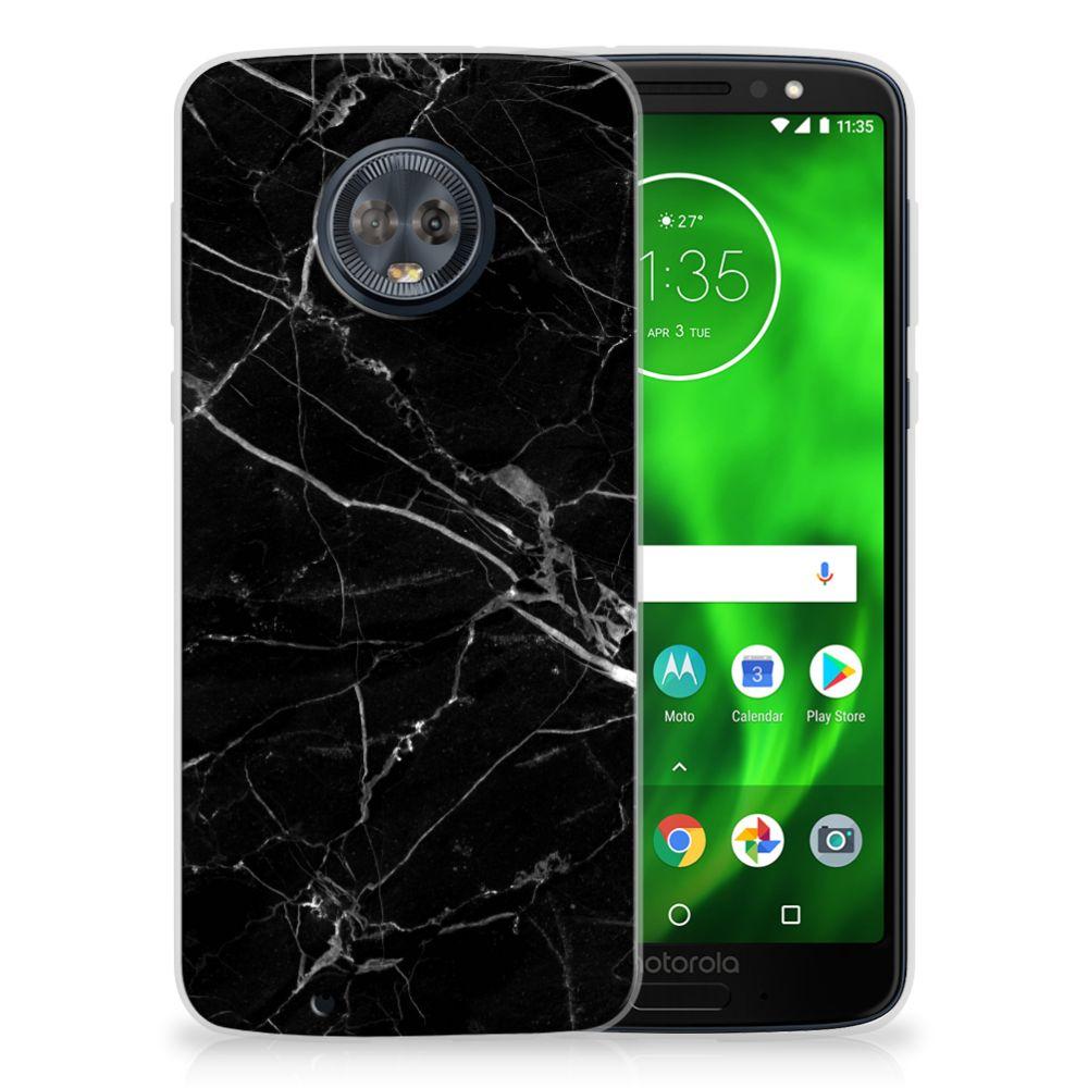 Motorola Moto G6 Uniek TPU Hoesje Marmer Zwart