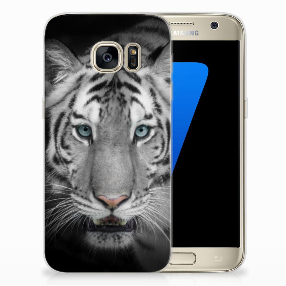 Samsung Galaxy S7 Uniek TPU Hoesje Tijger