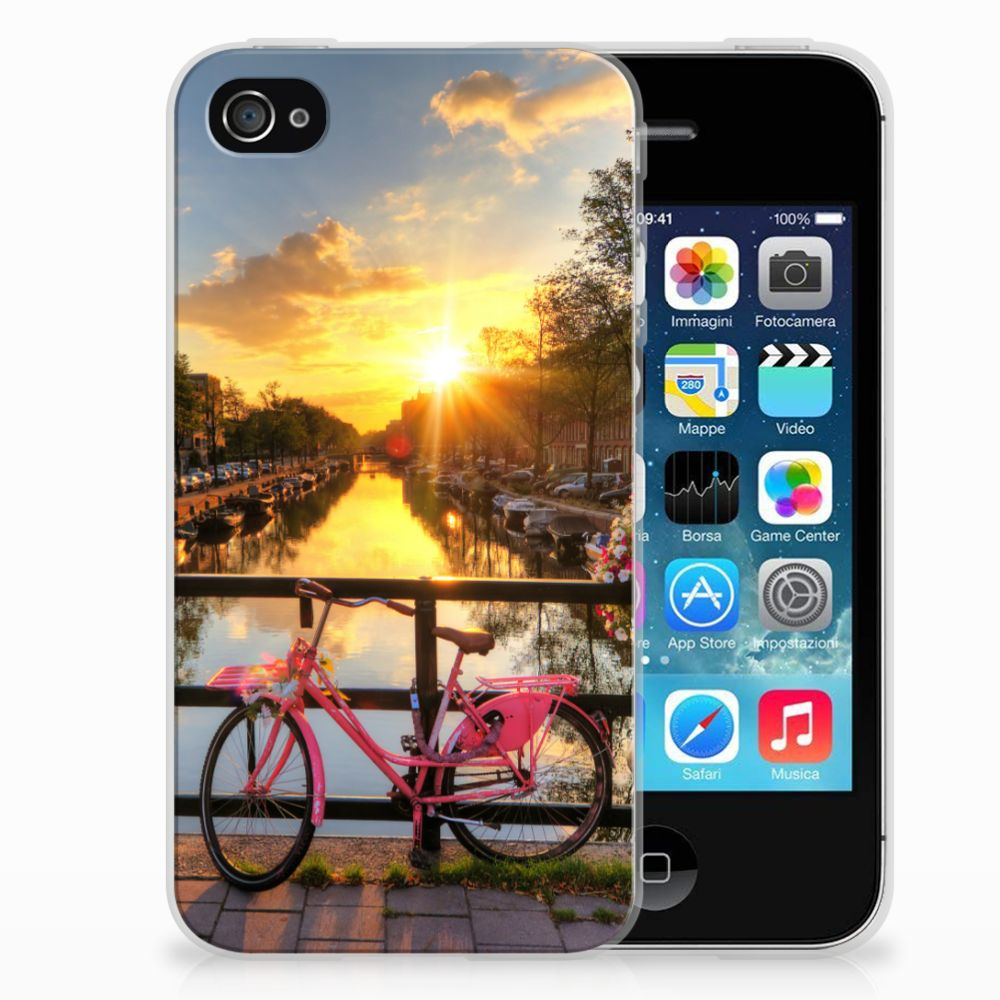 Apple iPhone 4 | 4s Siliconen Back Cover Amsterdamse Grachten