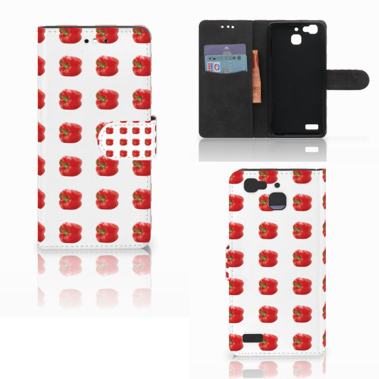 Huawei P8 Lite Smart (GR3) Book Cover Paprika Red