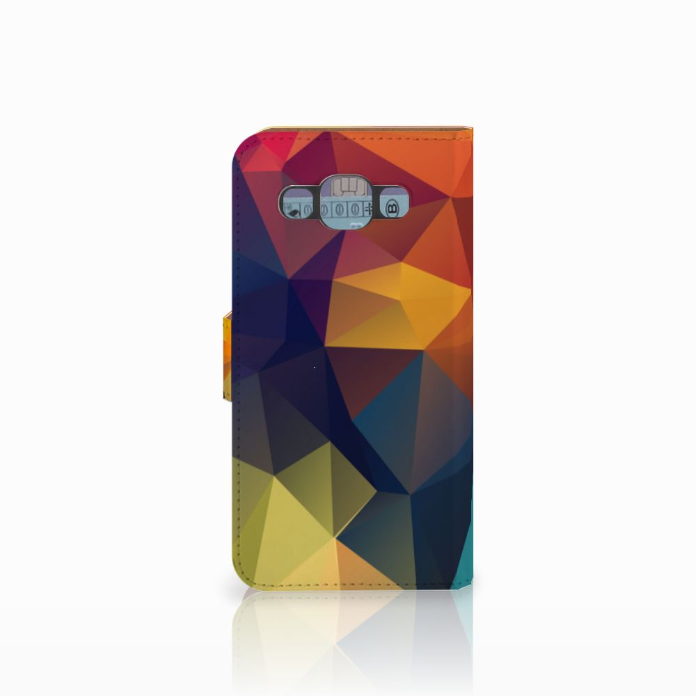 Samsung Galaxy E5 Bookcase Polygon Color