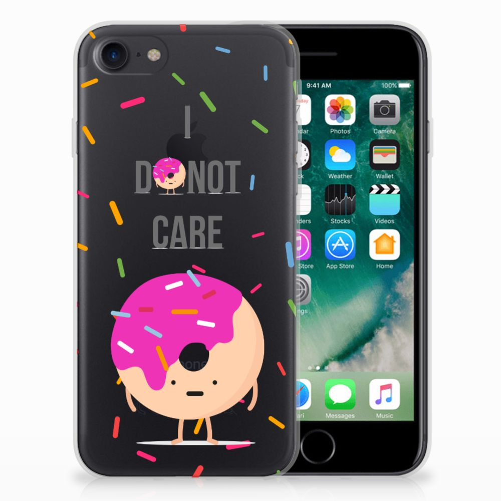 Apple iPhone 7 | 8 Siliconen Case Donut Roze