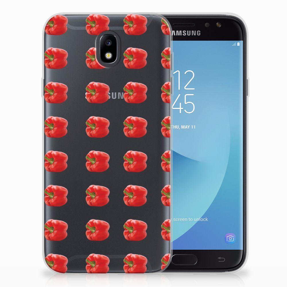 Samsung Galaxy J7 2017 | J7 Pro Siliconen Case Paprika Red