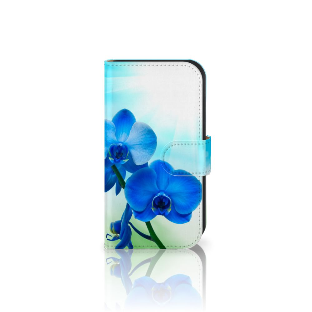 Samsung Galaxy Ace 4 4G (G357-FZ) Boekhoesje Design Orchidee Blauw