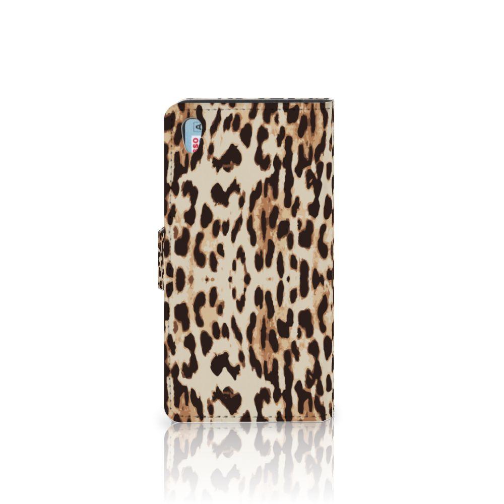 Sony Xperia Z5 | Z5 Dual Telefoonhoesje met Pasjes Leopard