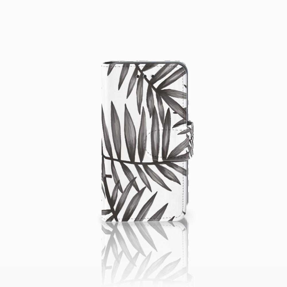 Nokia Lumia 530 Uniek Boekhoesje Leaves Grey