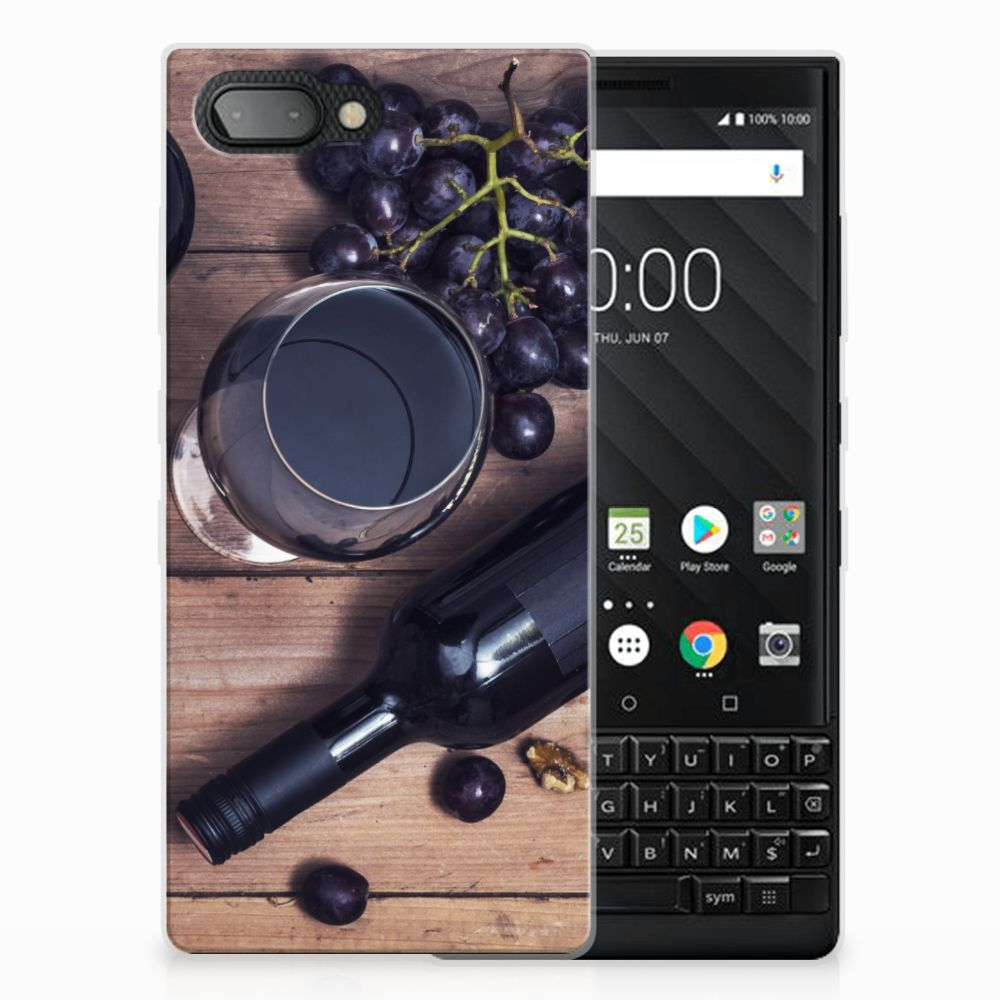 BlackBerry Key2 Siliconen Case Wijn