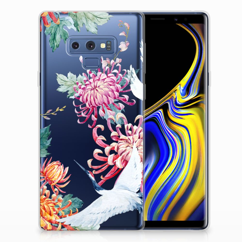 Samsung Galaxy Note 9 Uniek TPU Hoesje Bird Flowers