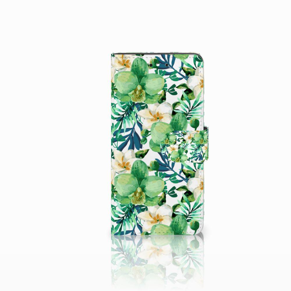Huawei P8 Lite Smart (GR3) Uniek Boekhoesje Orchidee Groen
