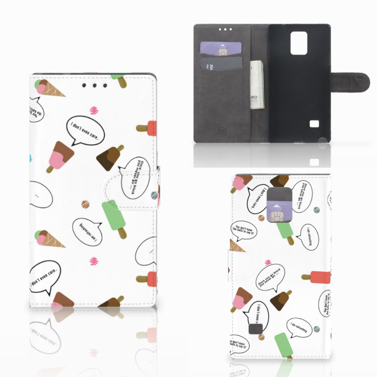 Samsung Galaxy Note 4 Book Cover IJsjes