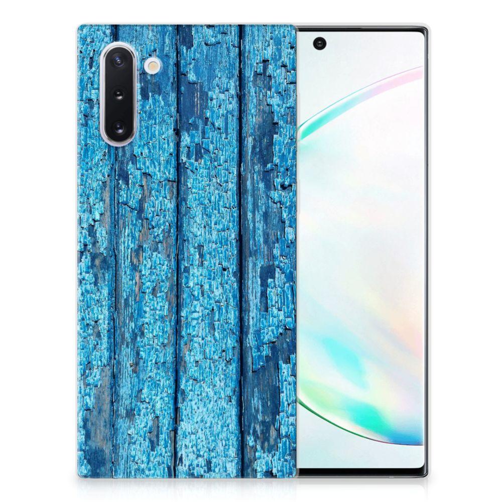 Samsung Galaxy Note 10 Bumper Hoesje Wood Blue