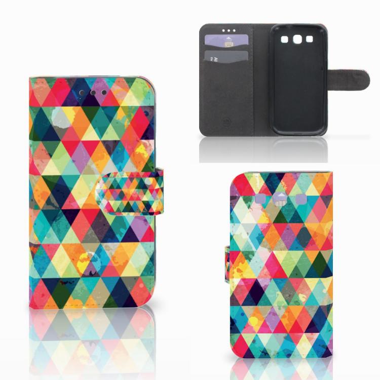 Samsung Galaxy S3 i9300 Telefoon Hoesje Geruit