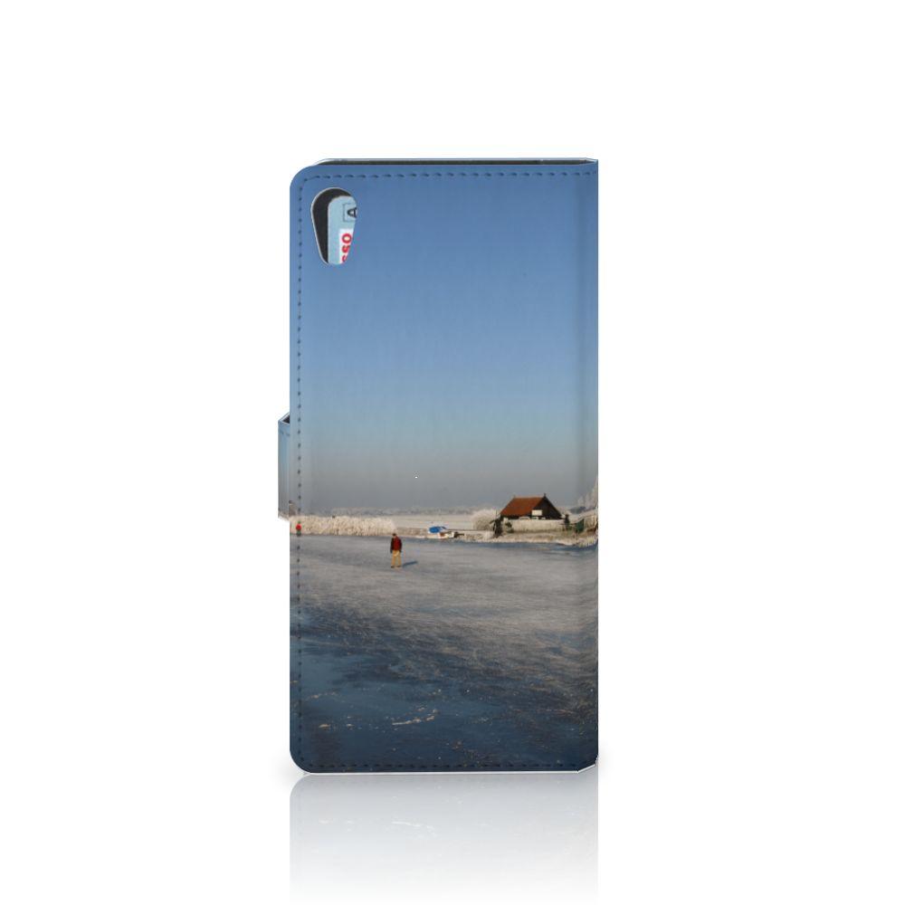 Sony Xperia XA1 Ultra Flip Cover Schaatsers