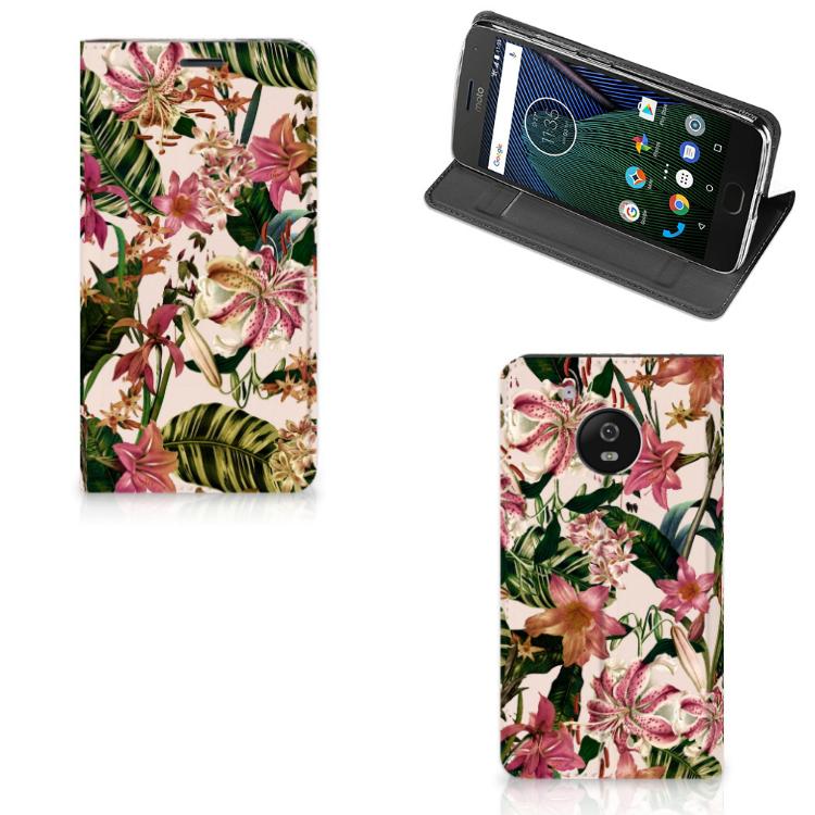 Motorola Moto G5 Smart Cover Flowers