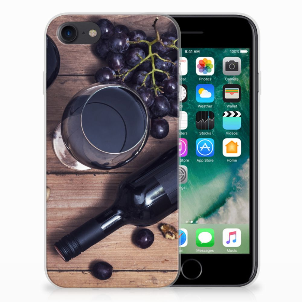 Apple iPhone 7 | 8 Siliconen Case Wijn